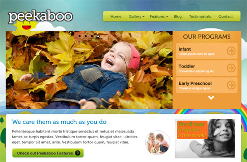 Peekaboo Premium WordPress Theme