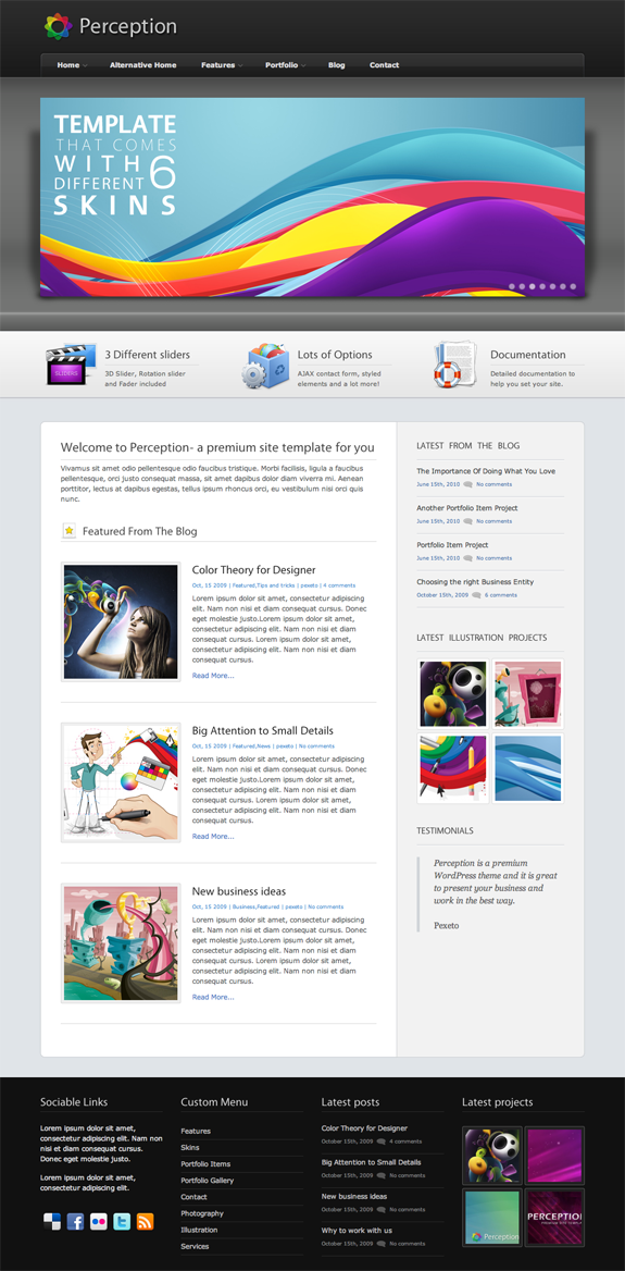 Perception Premium WordPress Theme