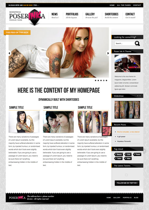Poser Ink A Premium WordPress Theme