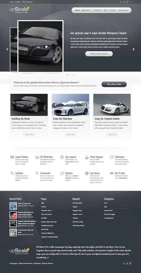 upScale Premium WordPress Theme