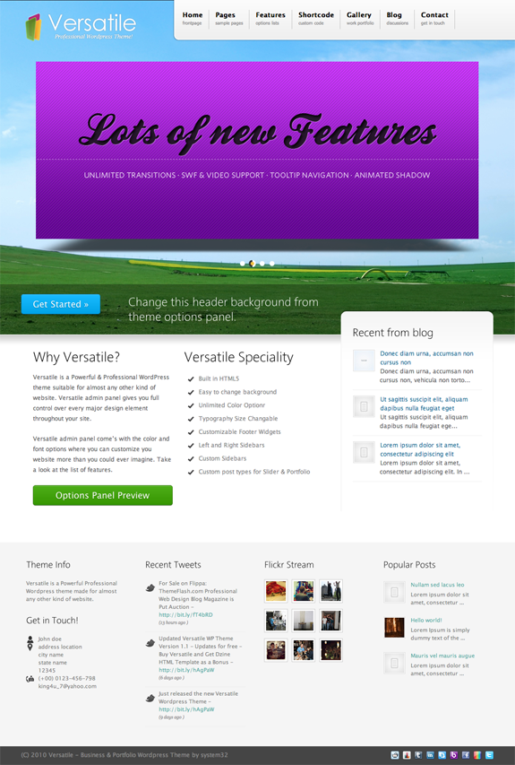 Versatile Premium WordPress Theme