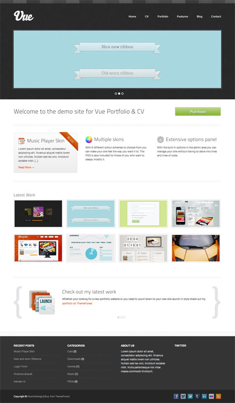 Vue Premium WordPress Theme