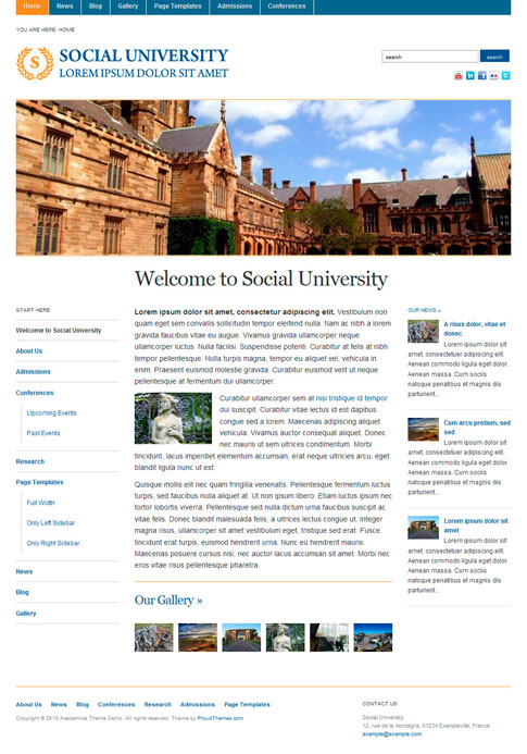 Academica Free WordPress Theme