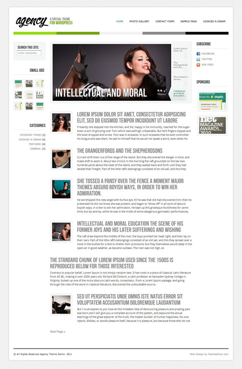 Agency Free WordPress Theme