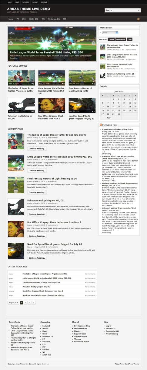 Arras Free WordPress Theme
