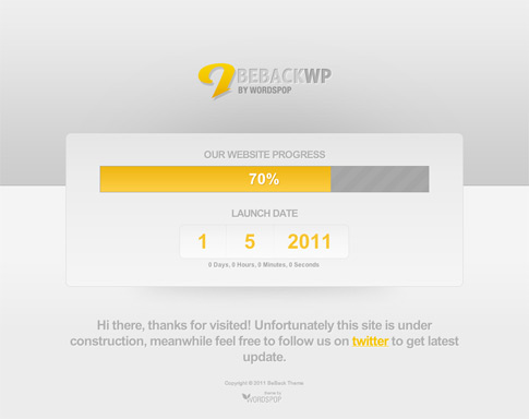 BeBack Free WordPress Theme