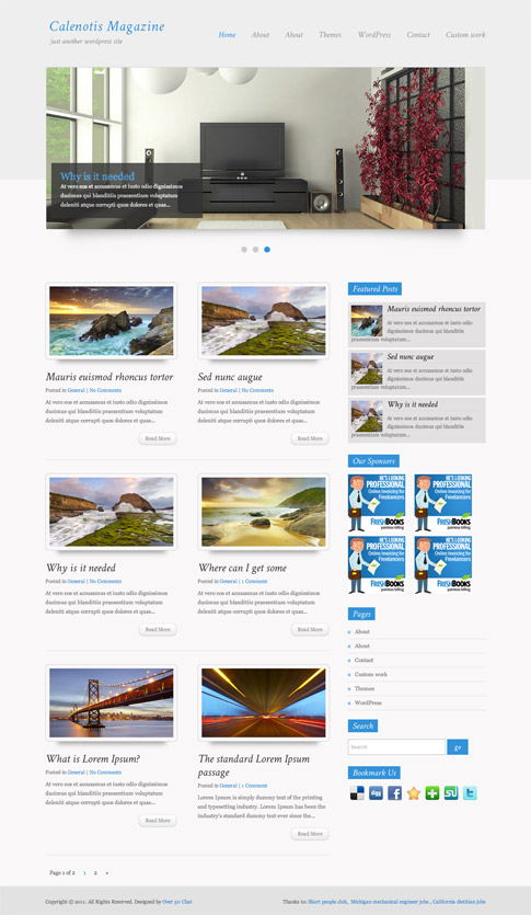 Calenotis Magazine Free WordPress Theme