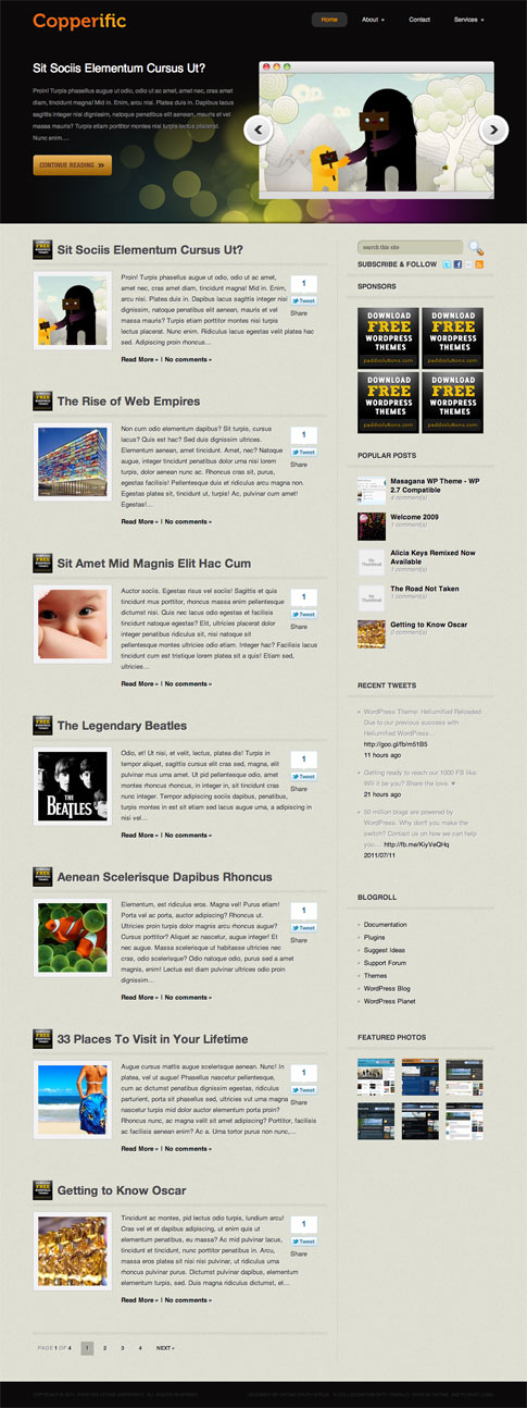 Copperific Free WordPress Theme