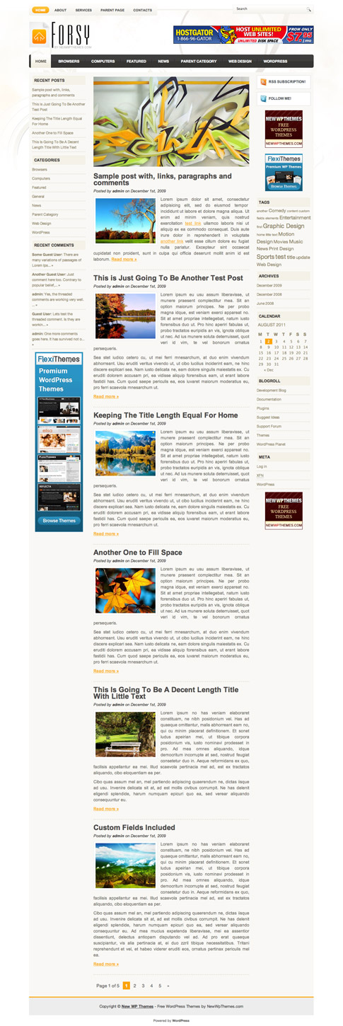 Forsy Free WordPress Theme