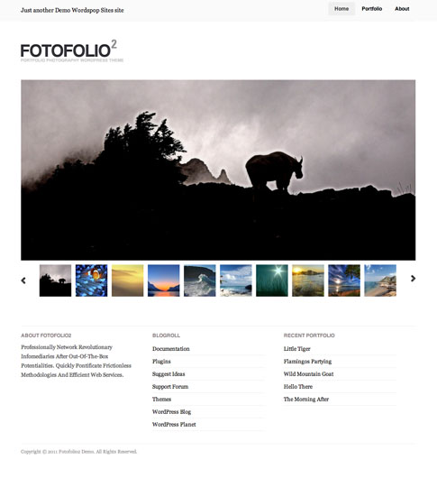 Fotofolio2 Free WordPress Theme