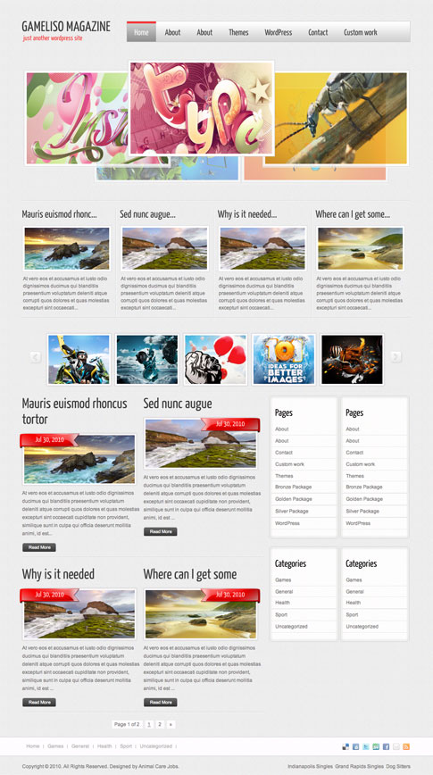 Gameliso Magazine Free WordPress Theme