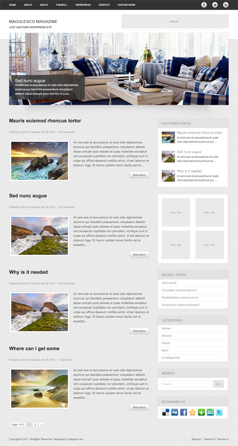 Magulesco Free WordPress Theme