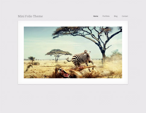 MiniFolio Free WordPress Theme