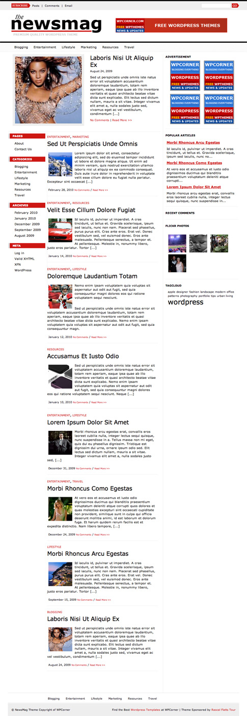 NewsMag Free WordPress Theme