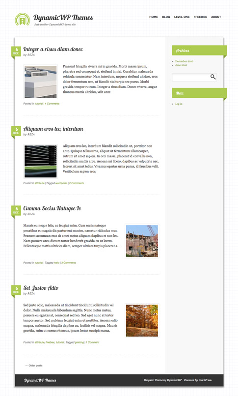 Pongsari Free WordPress Theme