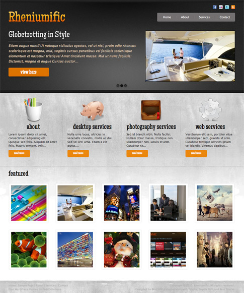 Rheniumific Free WordPress Theme