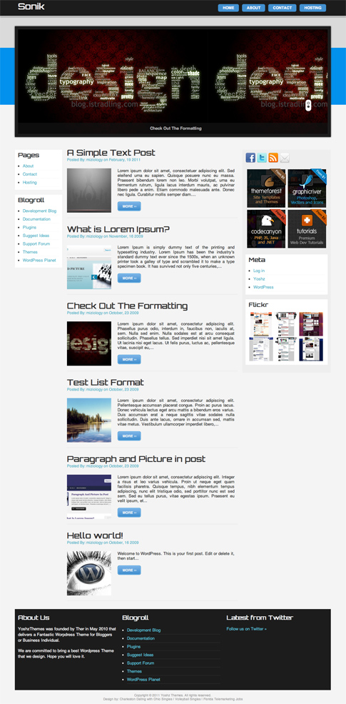 Sonik Free WordPress Theme