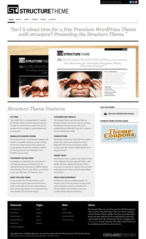 Structure Free WordPress Theme