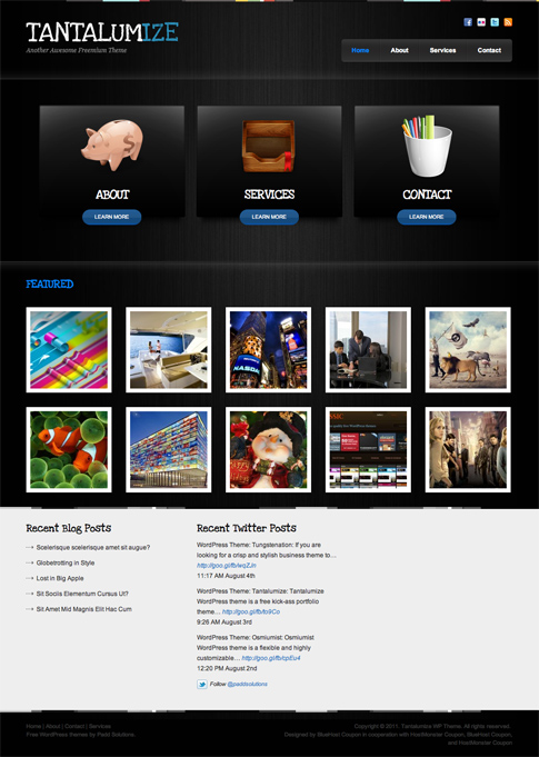 Tantalumize Free WordPress Theme