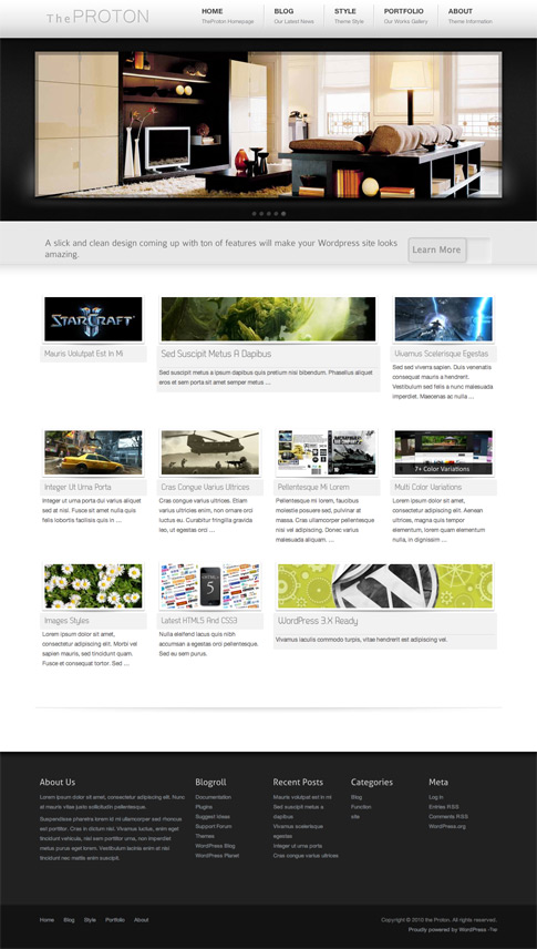 TheProton Free WordPress Theme