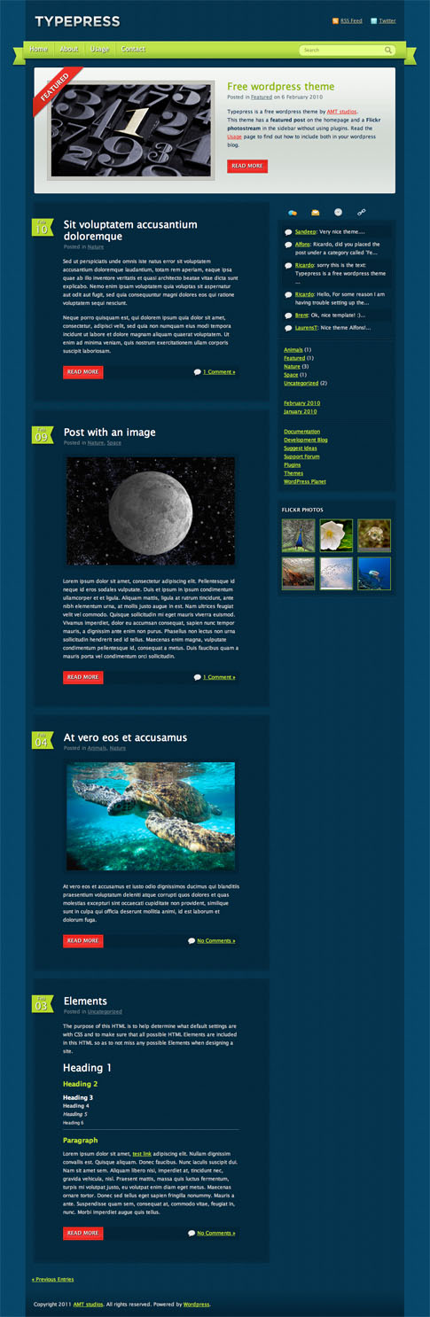 Typepress Free WordPress Theme