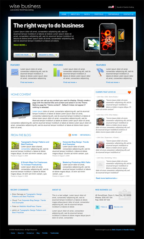 Wise Business Free WordPress Theme