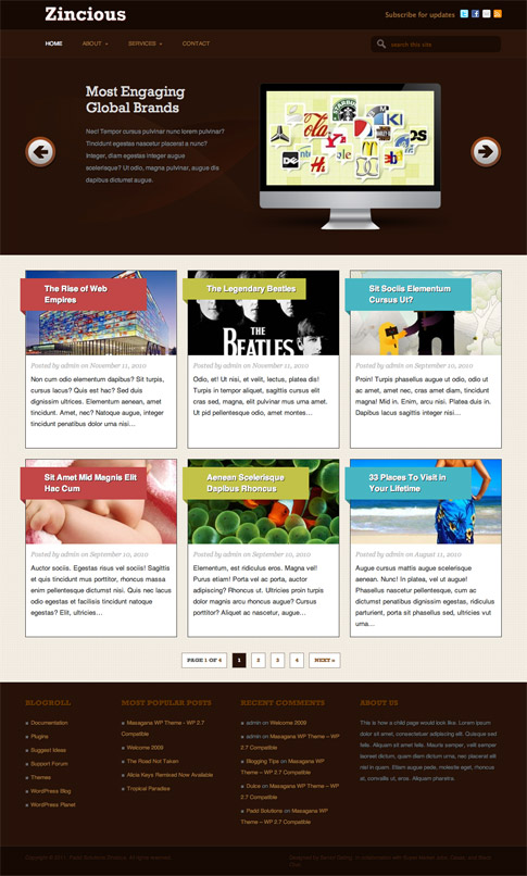 Zincious Free WordPress Theme