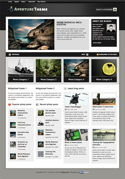Aperture Premium WordPress Theme