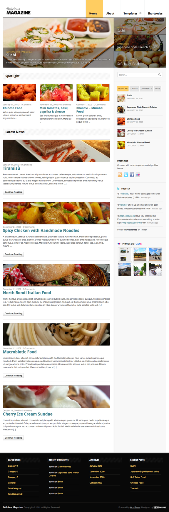 Delicious Magazine Premium WordPress Theme