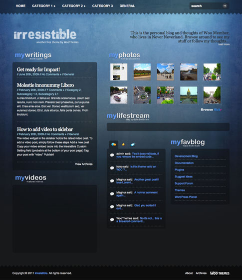 Irresistible Free WordPress Theme
