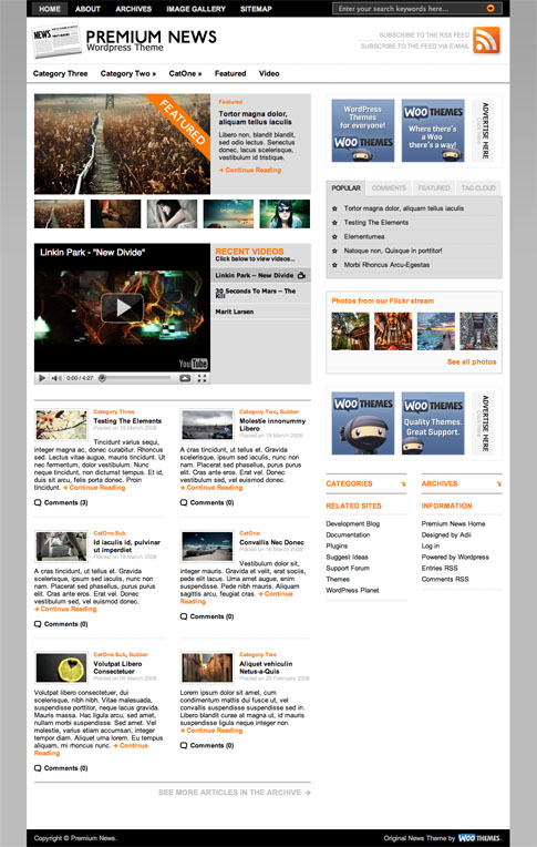 Original Premium News Free WordPress Theme | WooThemes.com