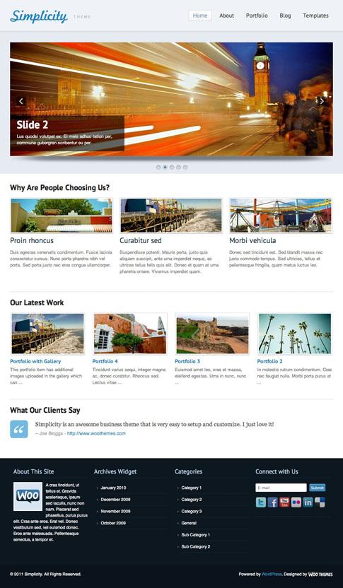 Simplicity Premium WordPress Theme