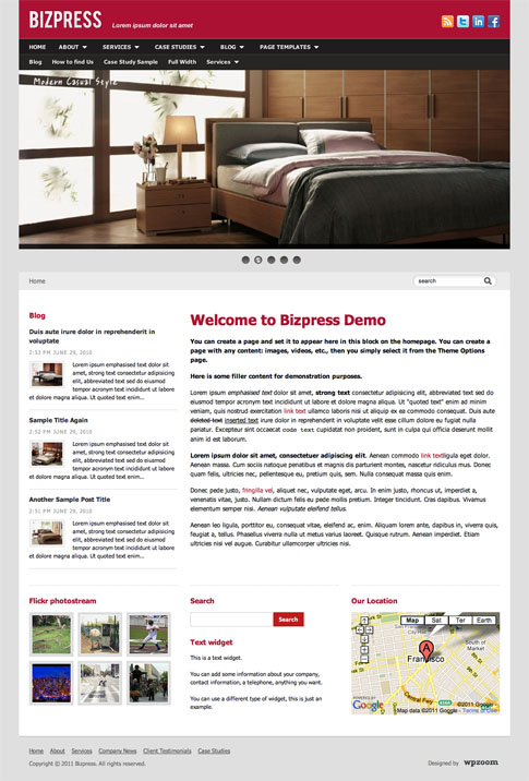 Bizpress Premium WordPress Theme