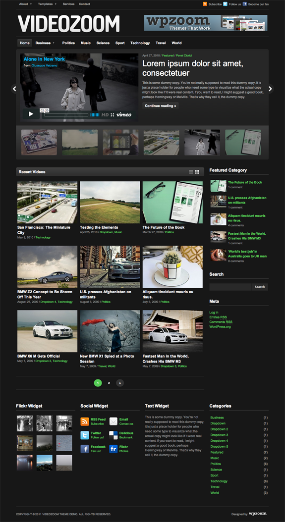 Videozoom Premium WordPress Theme