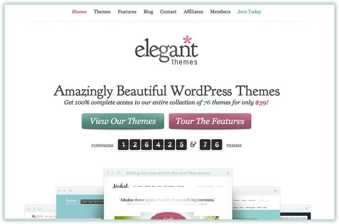 Elegant Themes New Design for 2012