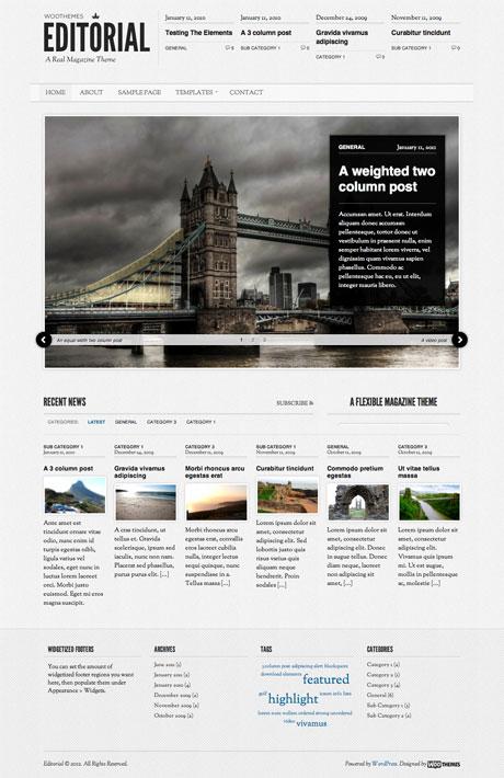10 Best Magazine WordPress Themes of 2012 (Free & Premium)