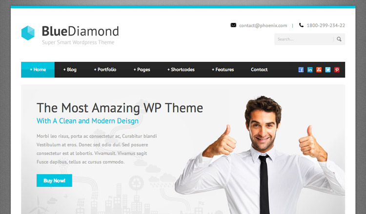 Blue Diamond - Best Business WordPress Theme 2013