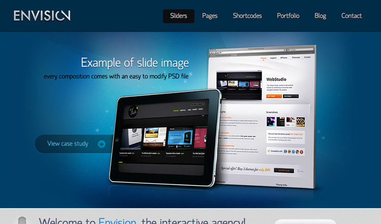 Envision - Best Business WordPress Theme 2013