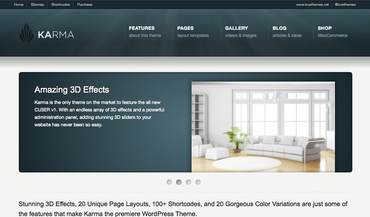 Karma - Best Business WordPress Theme 2013