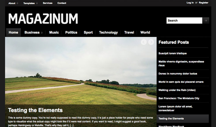 Magazinum - Best Magazine WordPress Theme 2013