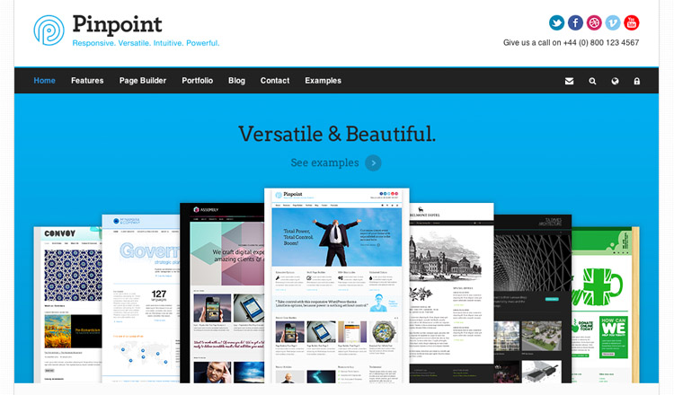 Pinpoint - Best Responsive WordPress Theme 2013