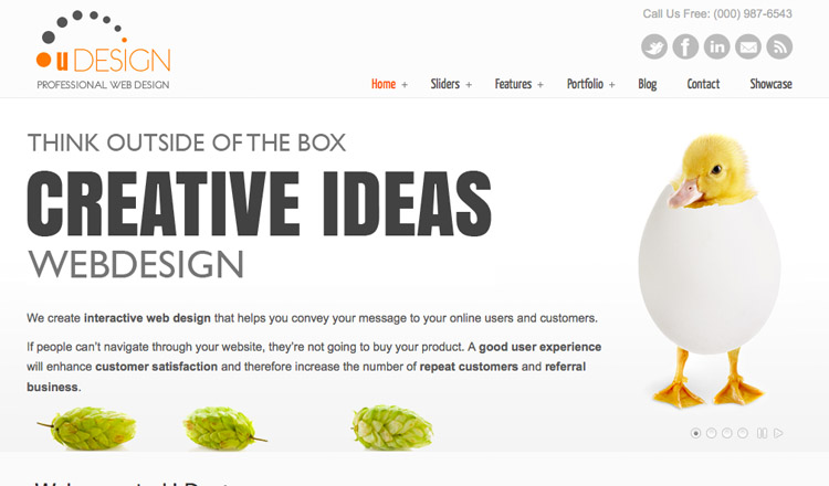 U-Design - Best Business WordPress Theme 2013