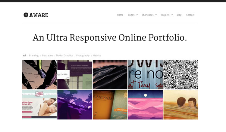 Aware - Best Responsive WordPress Theme 2012
