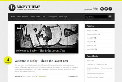Busby - Best Free WordPress Theme 2012