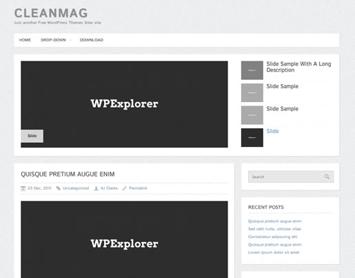 CleanMag - Best Free WordPress Theme 2012
