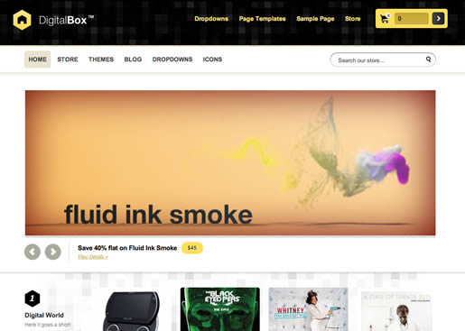 DigitalBox - Best Ecommerce WordPress Theme 2012