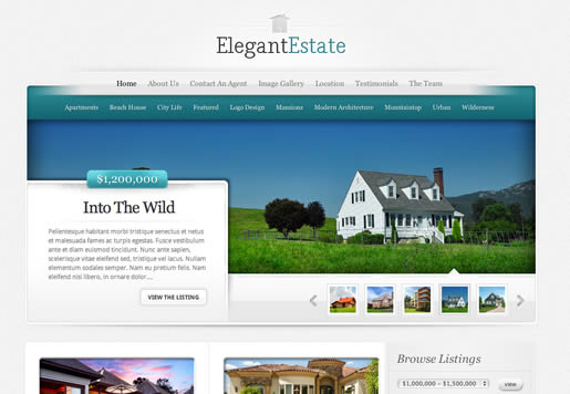 Elegant Estate - Best Real Estate WordPress Theme 2012