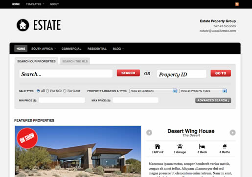 Estate - Best Real Estate WordPress Theme 2012