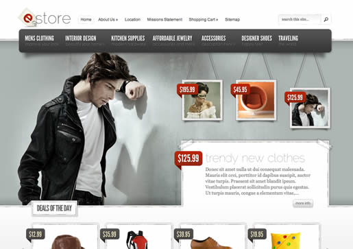 eStore - Best Ecommerce WordPress Theme 2012