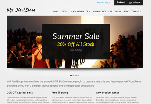 XXXXX - Best Ecommerce WordPress Theme 2012